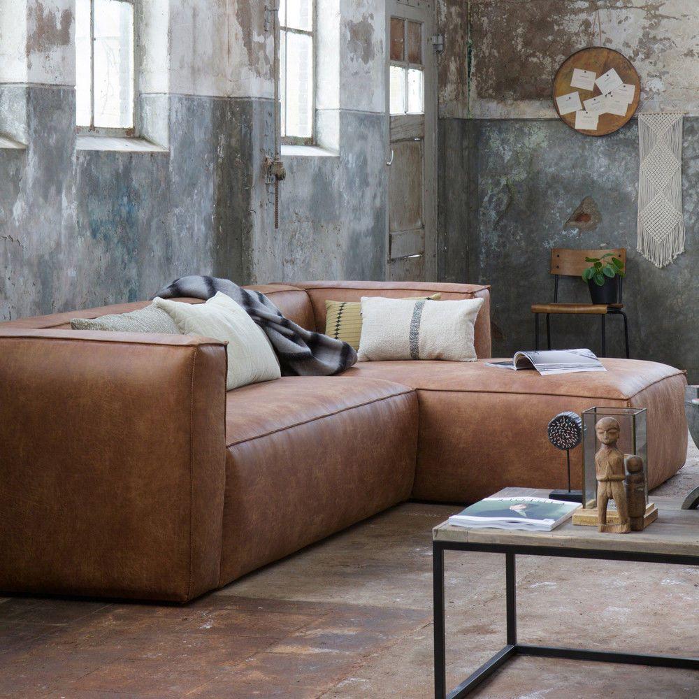 Details Zu Eckgarnitur Bean Leder Cognac Couch Sofa Ecksofa