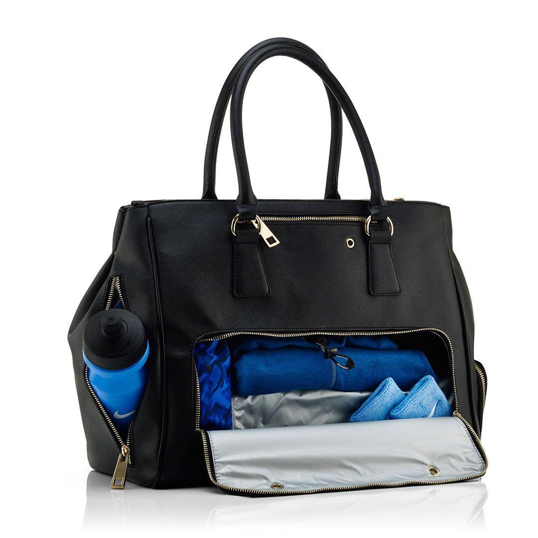 2f921c907abc Sophia Signature Tote Bag - Black | FASHION | Gym bag essentials ...