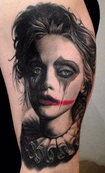 Clown Girl Tattoo Meaning: Pin On Tattoos