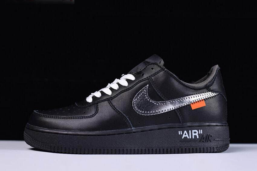 2018 Off-White x MoMA x Nike Air Force 1 Low Black Metallic Silver Free  Shipping 481ad9e9b8ea