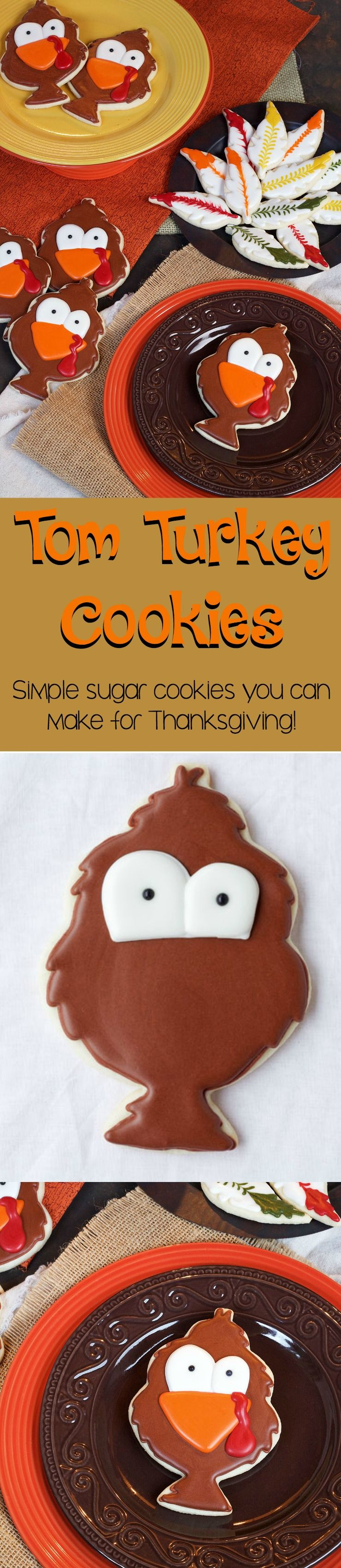 Tom Turkey Cookies for Thanksgiving | The Bearfoot Baker