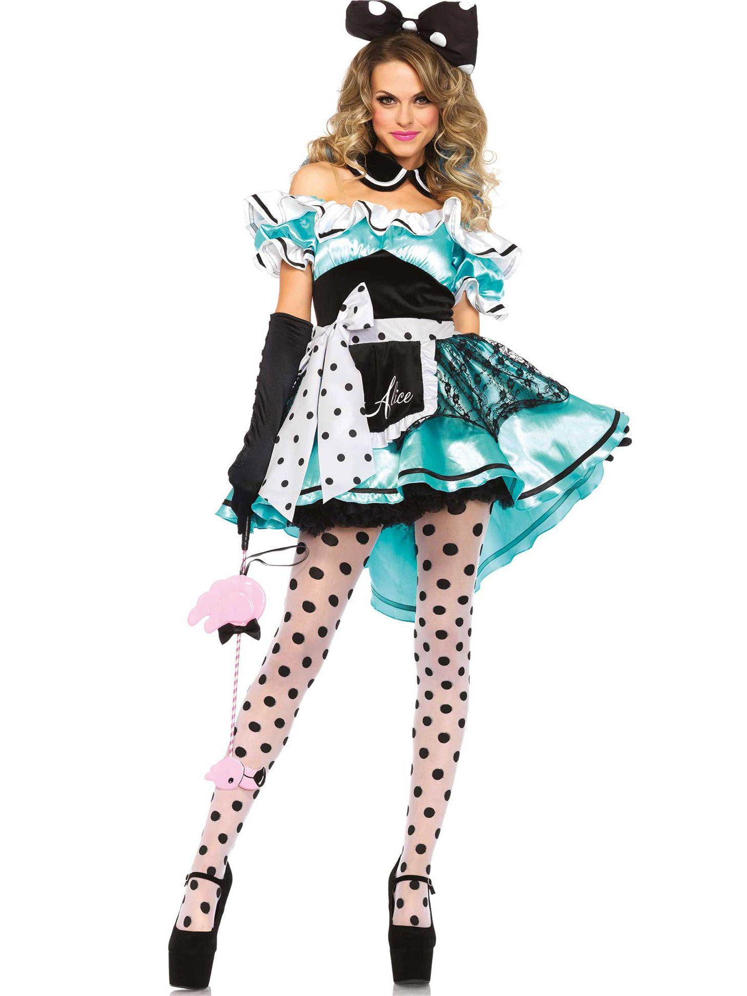 Femmes Alice au pays des merveilles Mesdames Adulte Costume Déguisement Conte De Fées Costume Fille