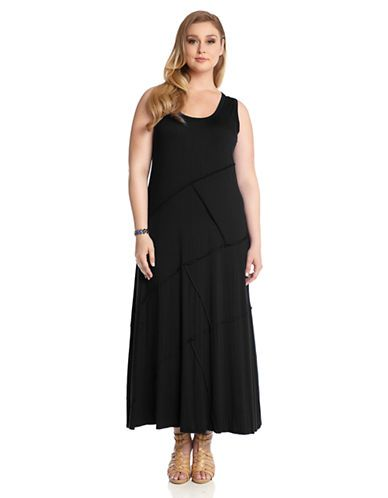 Karen Kane Plus Size Fashion Black Carolyn Reverse Seam Maxi ...
