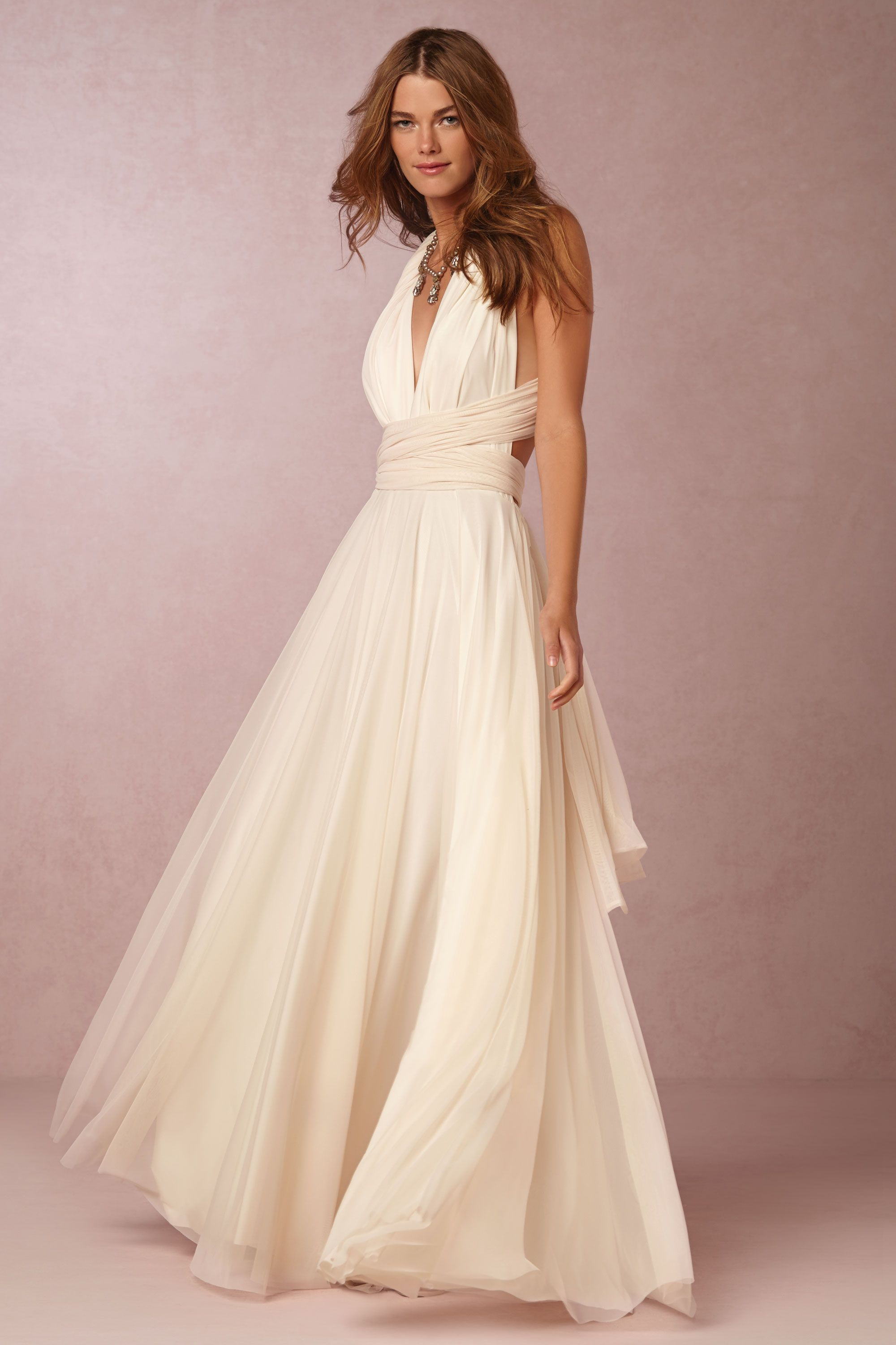 Bhldn ginger convertible maxi dress in bride reception dresses at