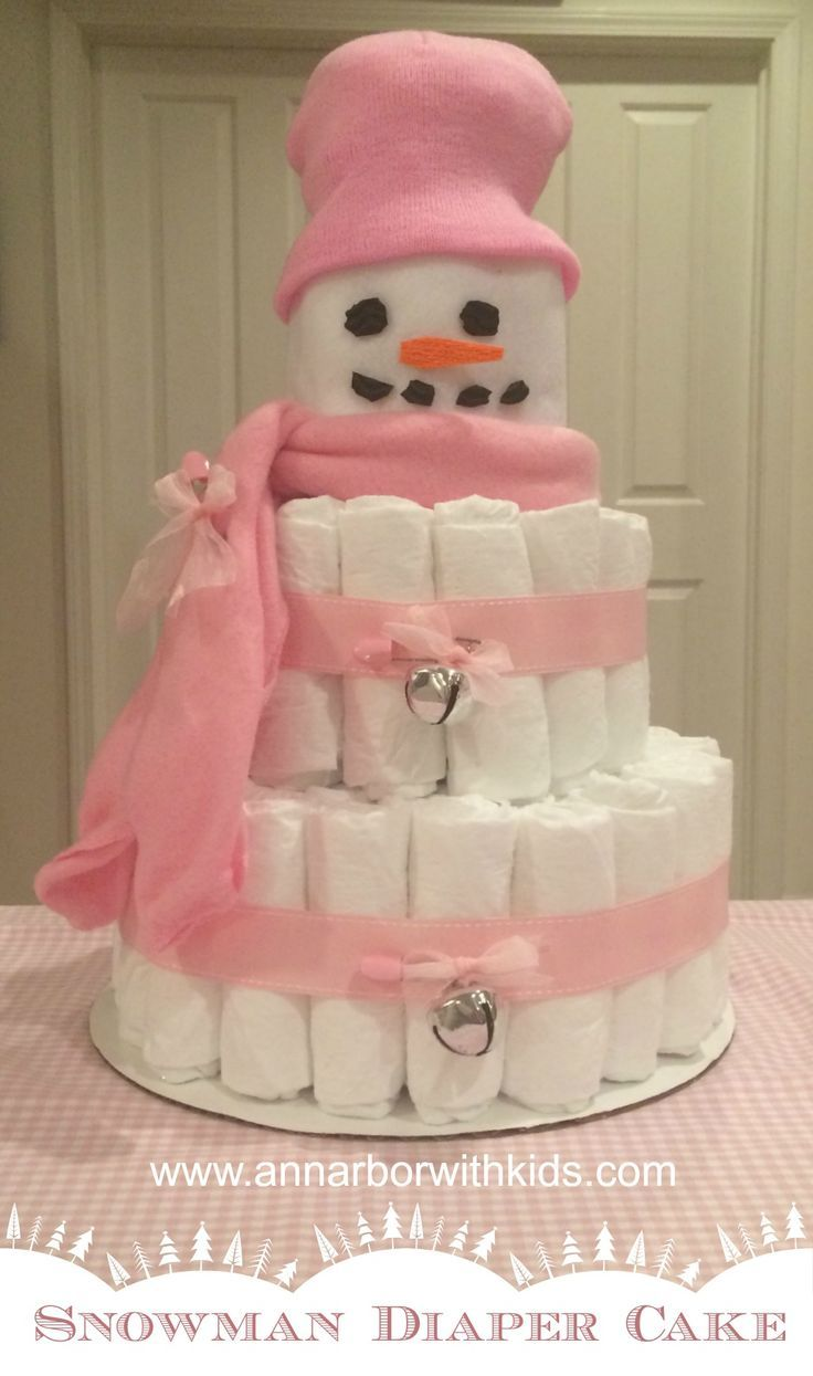 Snowman Diaper Cake Directions Diaper Cake For Baby Shower