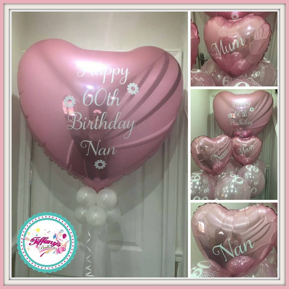 Jumbo Personalised Balloons - 3ft Heart with Balloon Collar and Tulle #personalisedballoons Jumbo Personalised Balloons - 3ft Heart with Balloon Collar and Tulle #personalisedballoons