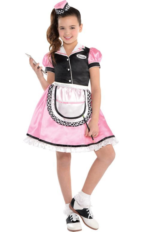 Girls Dinah Girl Waitress Costume - Party City | SOO CUTE ...
