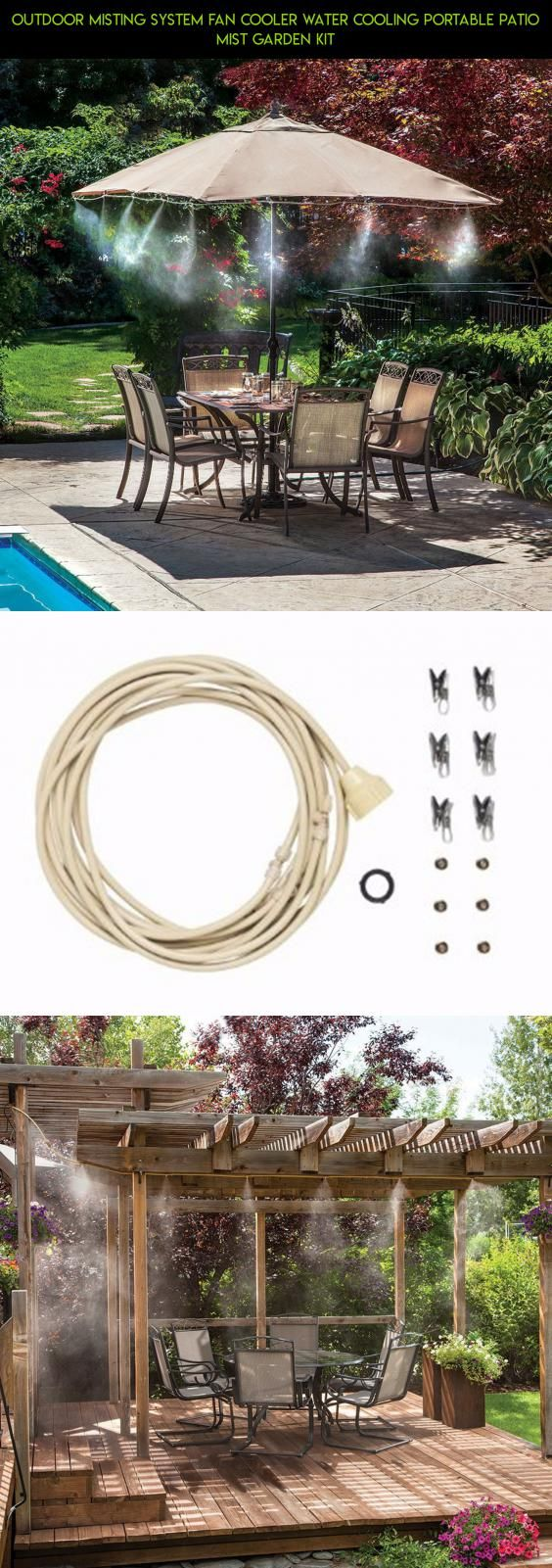 outdoor misting system fan cooler water cooling portable patio