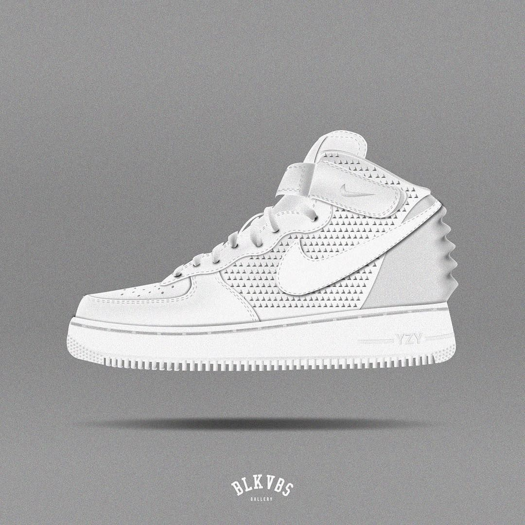 BLKVBS� on Instagram: \u201cNike Air Force 1 X Air Yeezy 2 Concept #