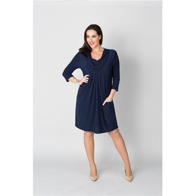 Nicole Cowl Neck Dress (363571) | Ideal World