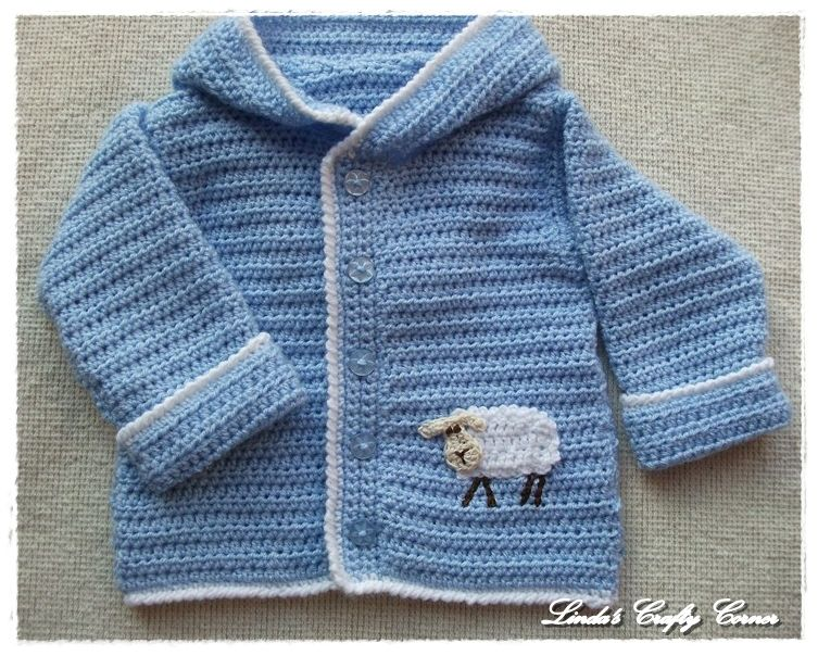 Baby Boy Blue Lamb Sweater Crochet - Baby/Child ...