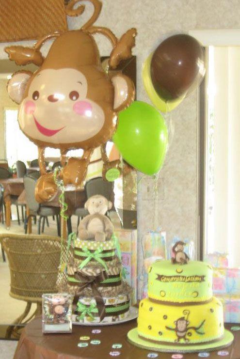 Monkey Banana First Birthday Party Monkey Themed Baby Shower