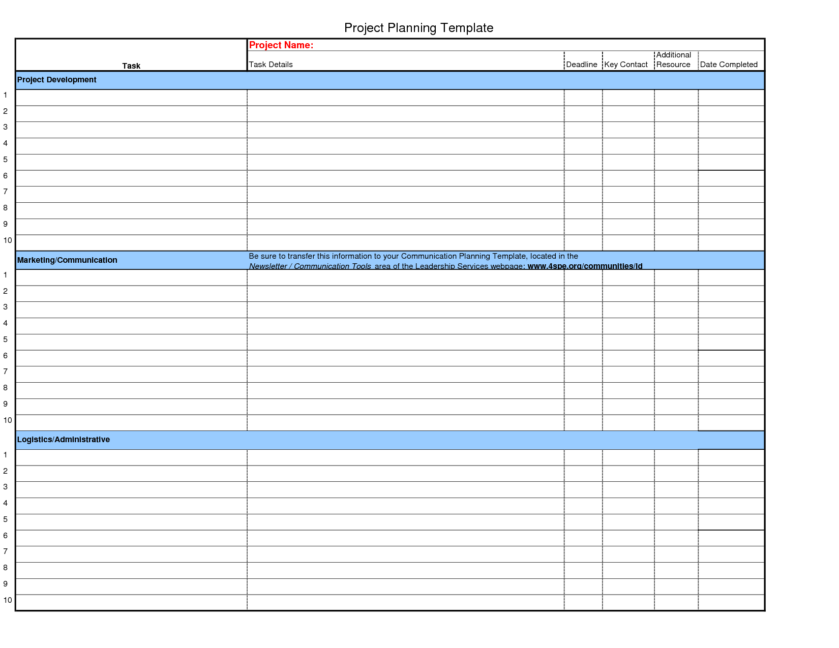 Excel Calendar Template  Planning Resources