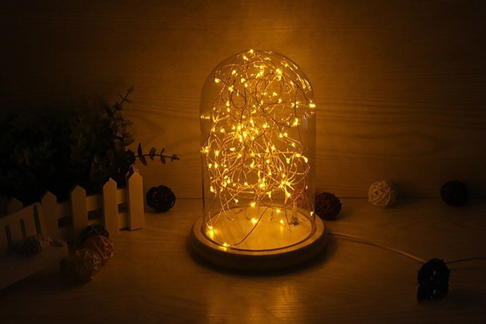 Amazon Com Minl Small Night Light Glass Cover Solid Wood