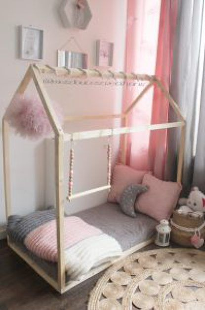 mon diy le fameux lit cabane montessori facile et rapide chambre camille pinterest bricolage. Black Bedroom Furniture Sets. Home Design Ideas