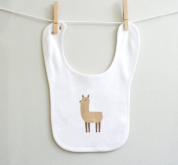 Llama Baby Burp Bib for Baby Boy or Baby Girl, Baby Shower Gift