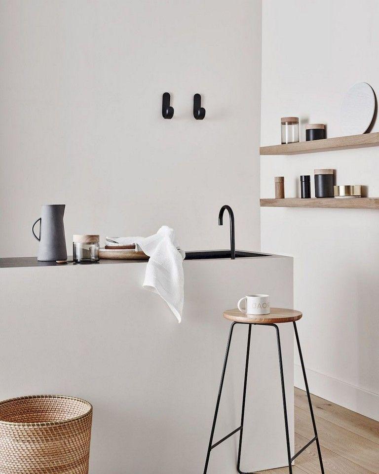 60 Elegant Kitchen In Scandinavian Style To Get Super Sleek Inspiration #minimalkitchen