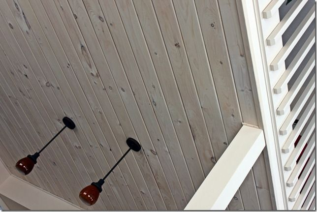 Whitewashed Pine Ceiling White Wash Ceiling Wood Plank Ceiling Plank Ceiling
