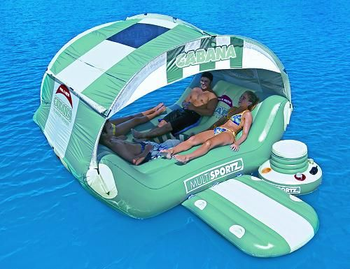 Be In Control Of Your Very Own Floating Island With The Pool And Patio  Cabana Islander