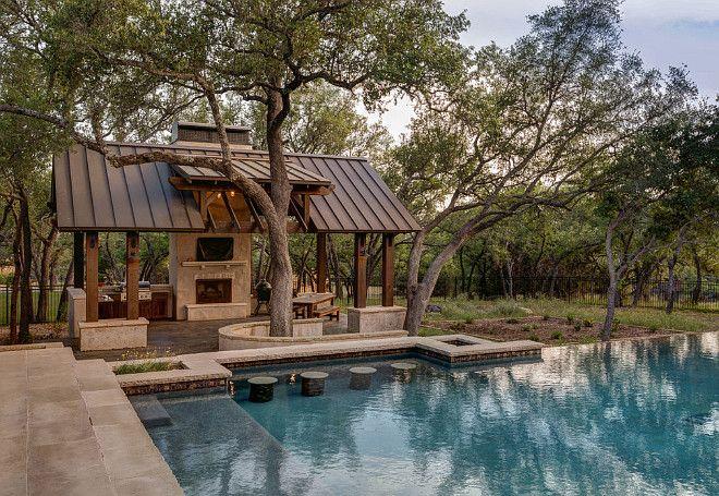 die besten 25 pool und spa im landhausstil ideen auf pinterest japanische architektur patio. Black Bedroom Furniture Sets. Home Design Ideas
