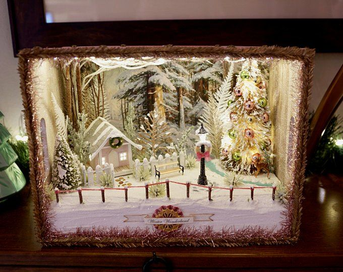 Christmas Decorations Dioramas Shadowboxes von CleanDesignCreations