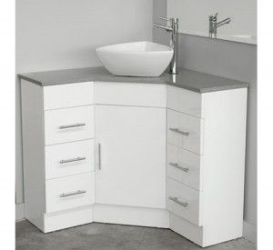 Could Work In The Bathroom It Would Give More Space Corner Caesarstone Top Vanity