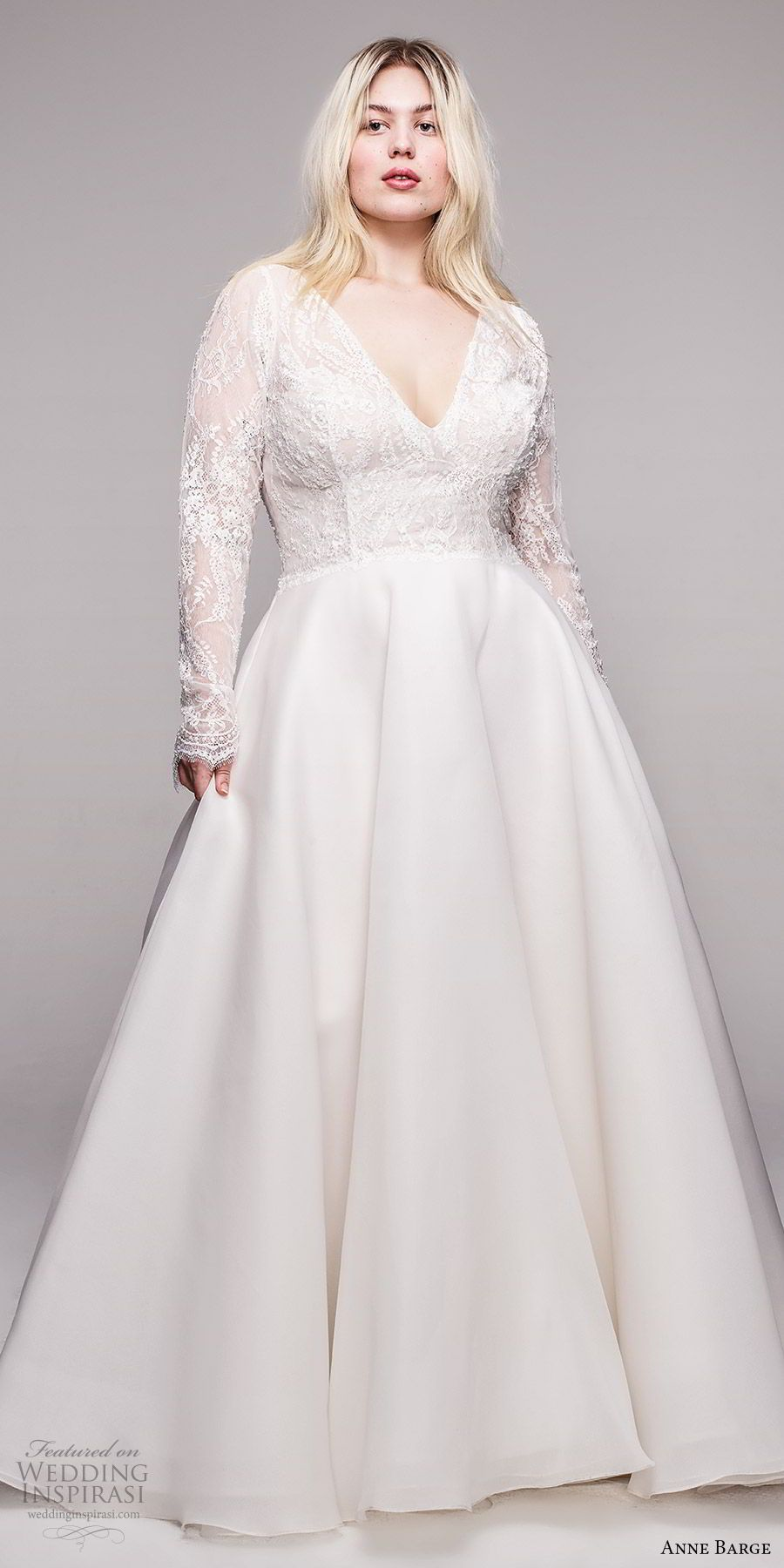 No Extra Size Fee For Anne Barge Curve Couture Collection Wedding Inspirasi Plus Wedding Dresses Wedding Dress Couture A Line Wedding Dress [ 1800 x 900 Pixel ]