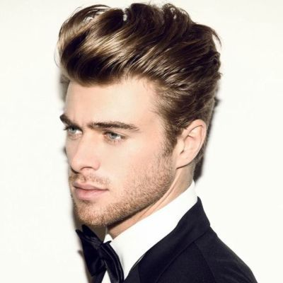 Mens Long Blonde Pompadour Hairstyle Mens Hairstyles Haircuts For Men Quiff Hairstyles