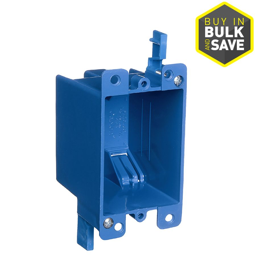 Carlon 1 Gang Blue Plastic Interior Old Work Standard Switch Outlet Wall Electrical Box Work Boxes