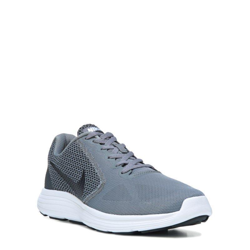 e996882ccca Nike Men s Revolution 3 Running Shoes (Grey Black)