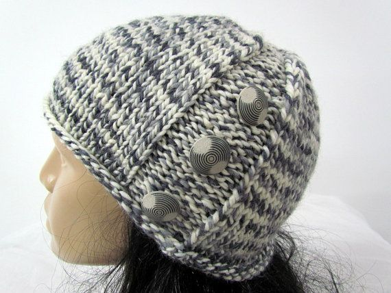 Knitted Winter hat Woman's knit slouchy hat  by YarnBallKnitting, €28.00