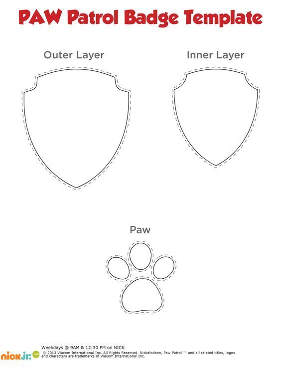 Paw Patrol Medal Template | Ntl-Trans | Pinterest | Paw Patrol And