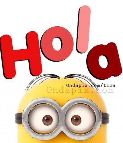 Hola #saludos #minions | Kenna | Hello goodbye, Minions ...