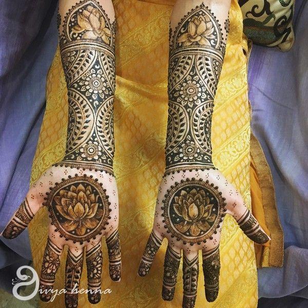 Lotus Flower Bridal Mehndi Henna Bridal Mehndi Mehndi Designs