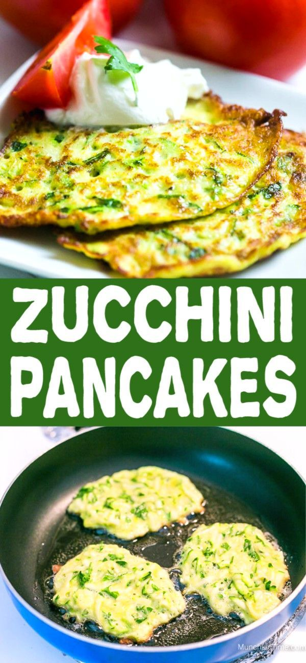 Photo of Healthy Zucchini Pancakes Recipe