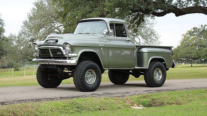 1957 GMC Pickup - https://www.pinterest.com/dapoirier/4x4-and-trucks/
