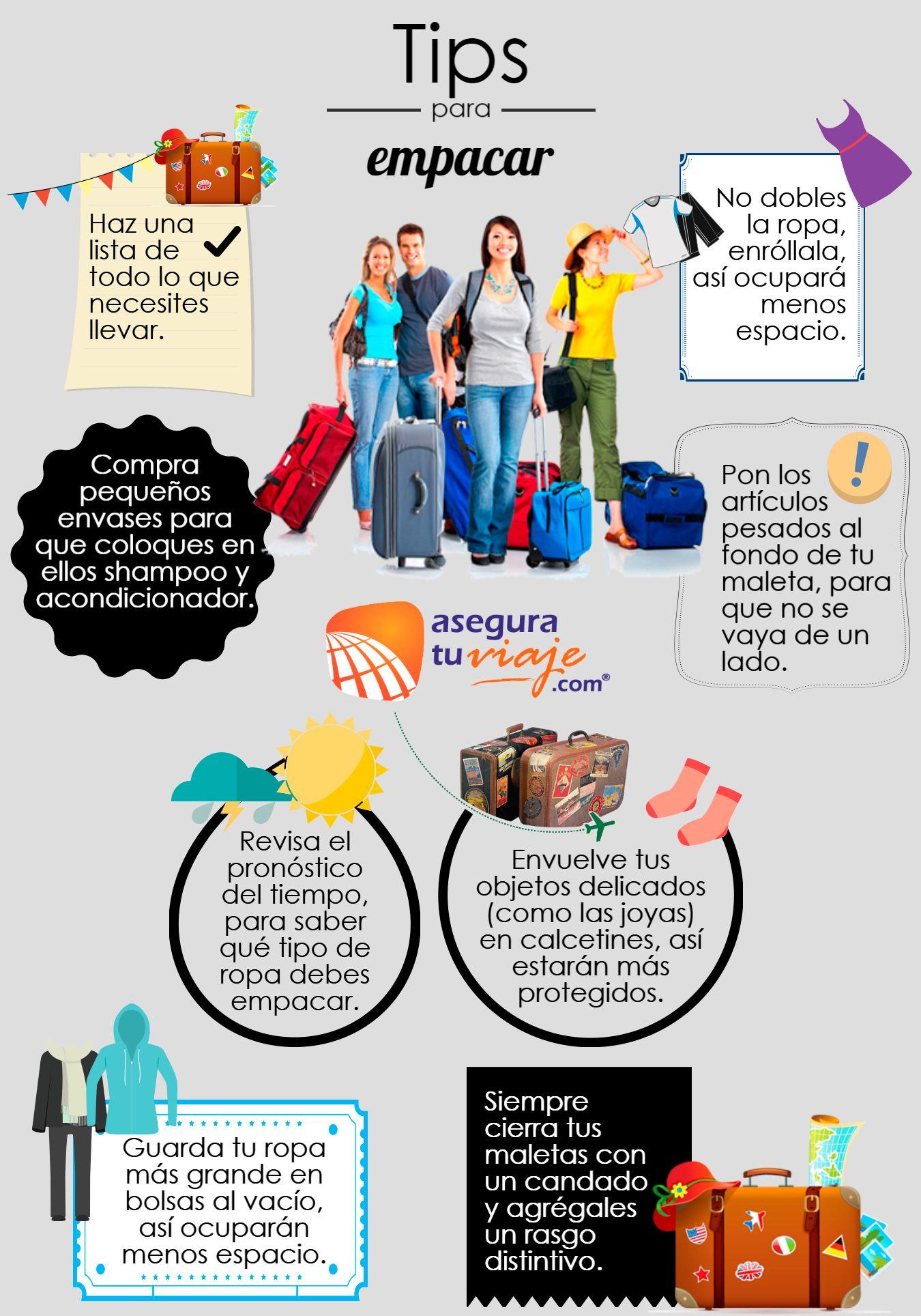 dfdd37f4f Infografía: Tips para empacar | AR - Viajar en 2019 | Travelling ...