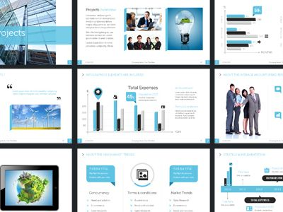 Flat design inspired Powerpoint presentation Flat design - powerpoint presentation