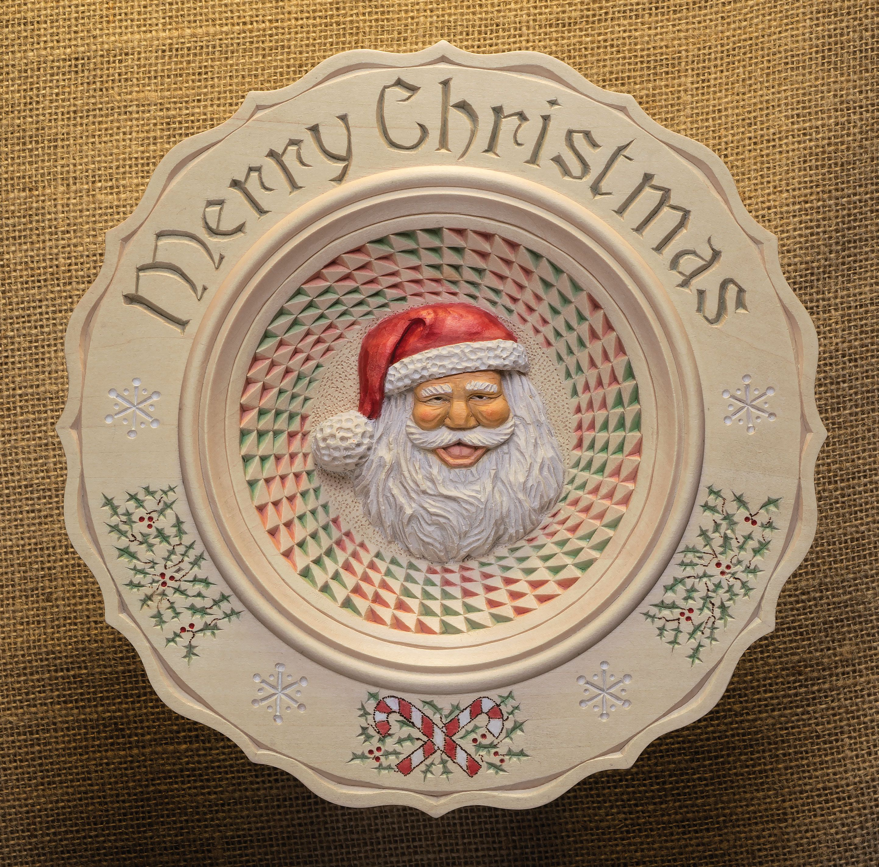 Chip carving and relief combine to create a unique holiday