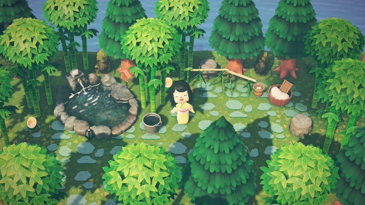 Mimi Chiu On Twitter Made An Outdoor Spa Animalcrossing