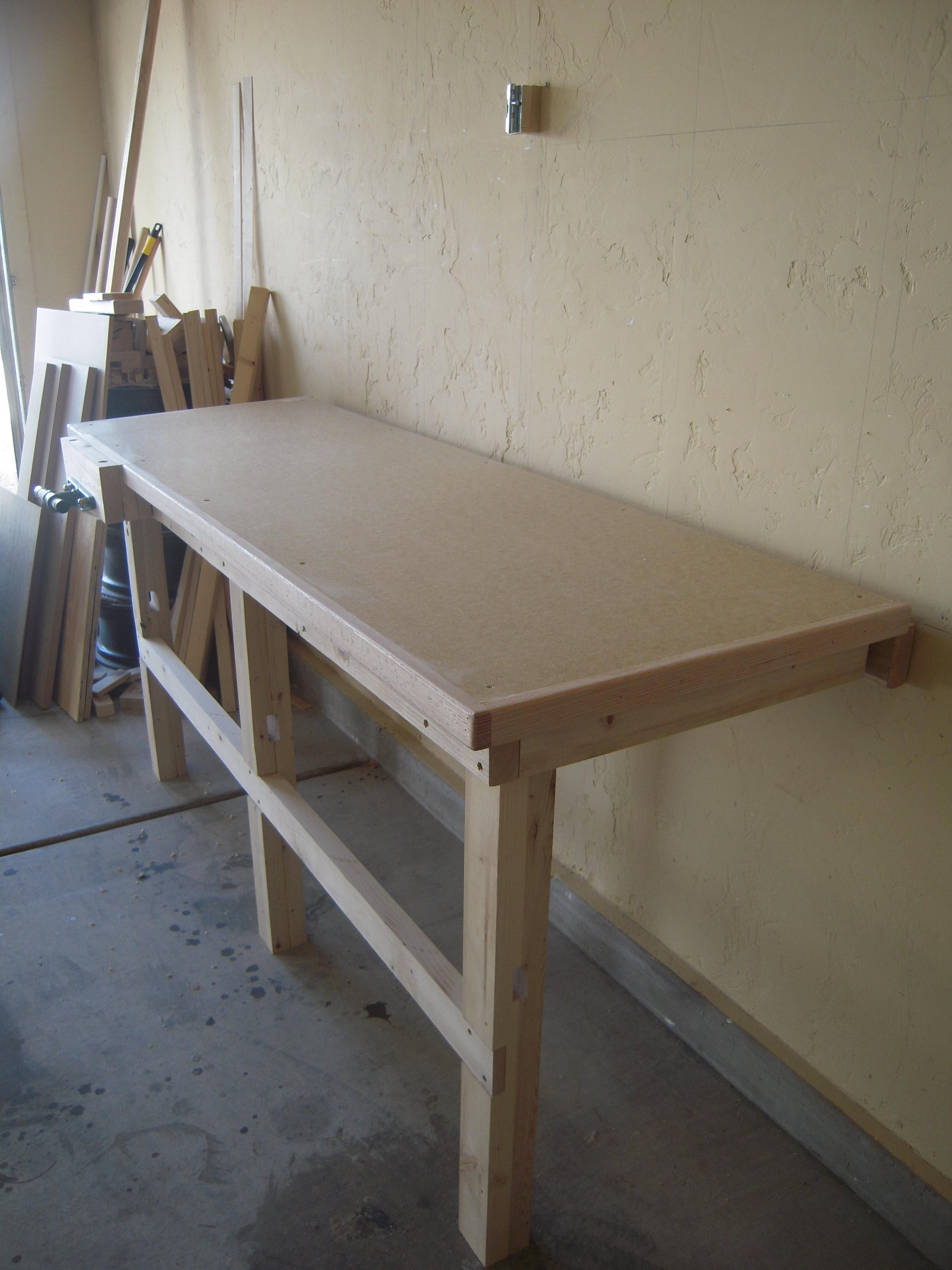 Fold Down Work Bench For My Garage Work Shop That Part