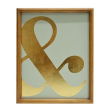 Ampersand Wall Sign By Ashland. Gold Office DecorOffice ...