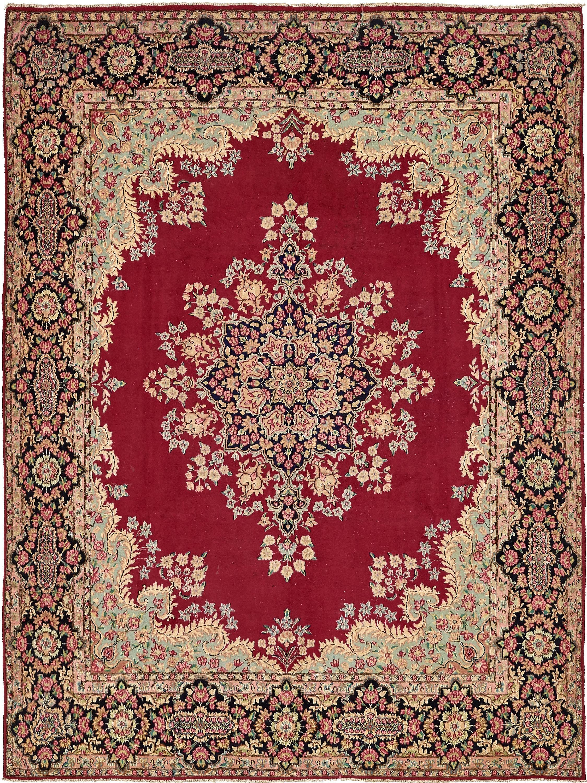 9 8 X 12 10 Kerman Persian Rug Antique Rugs