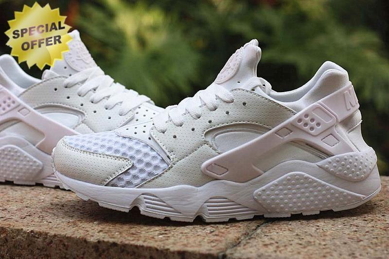 White Triple White Nike Air Huarache 318429-002  77fbc3392