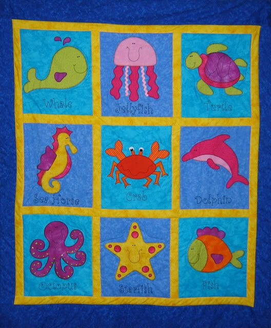 Under The Sea Quilt - could be cute with boy colors