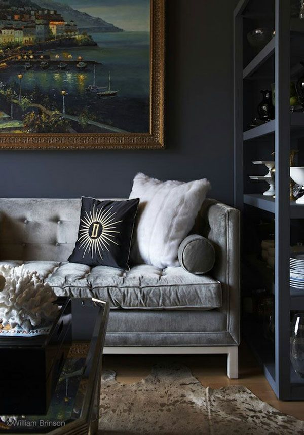 Living Room With Velvet Sofa Velvet Sofa Couch Sette Upholstery Living Room Idea Grey Gray Black House And Home Magazine Grey Sofa Living Room Home