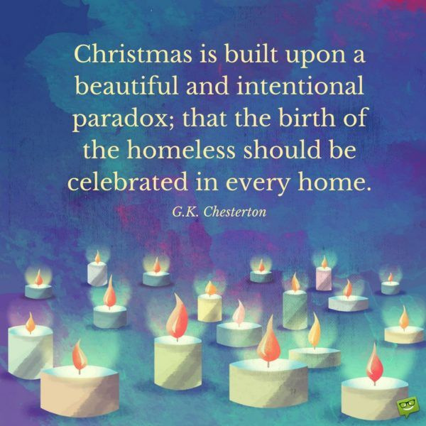 Christmas is built upon a beautiful and intentional paradox