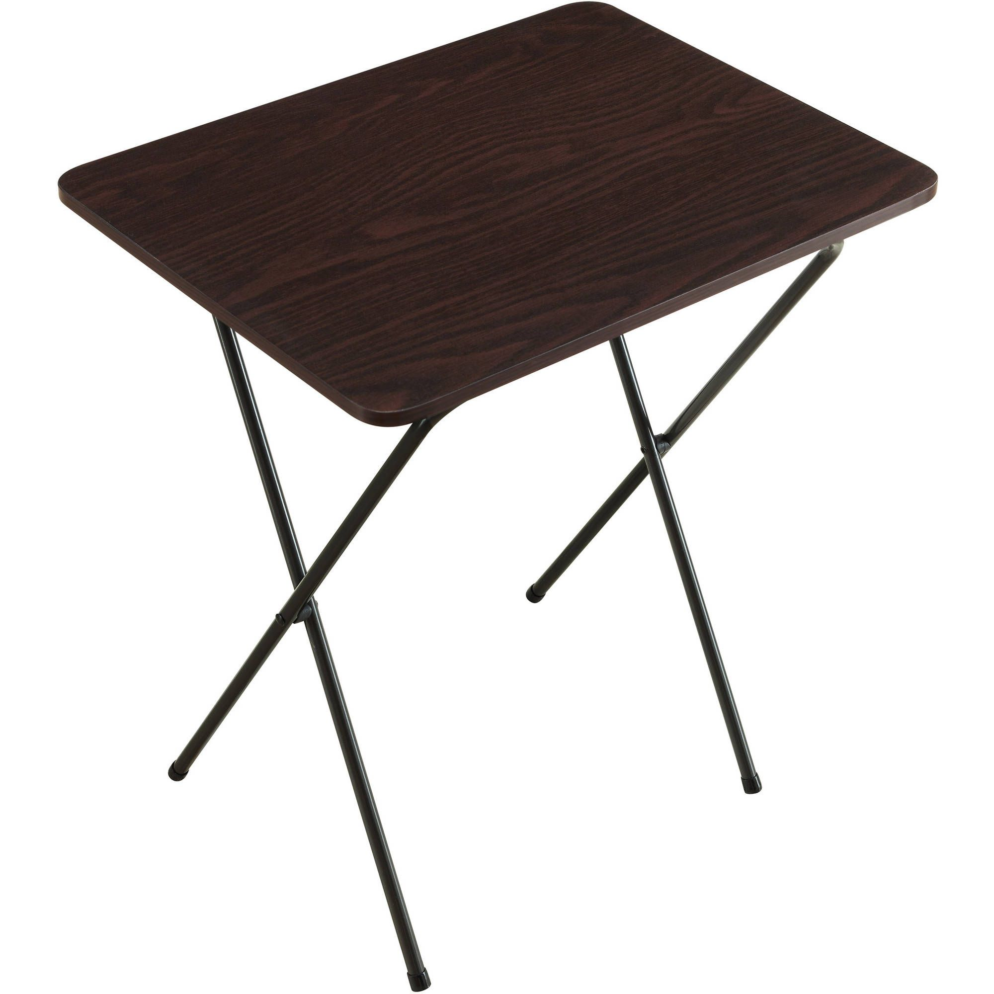 Folding Tray Table Espresso Walmart Com In 2020 Tray Table