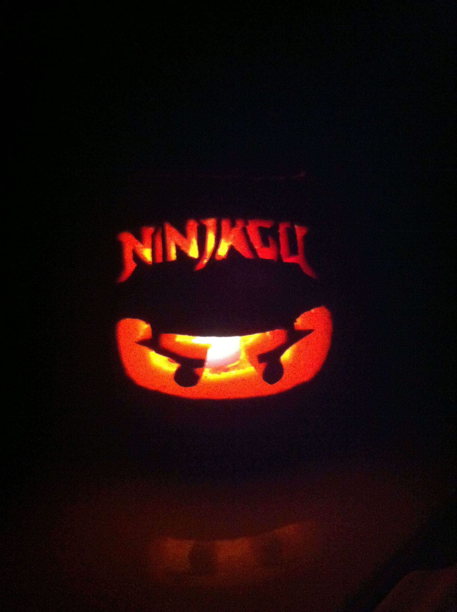 Ninjago pumpkin carving for kids just print out picture