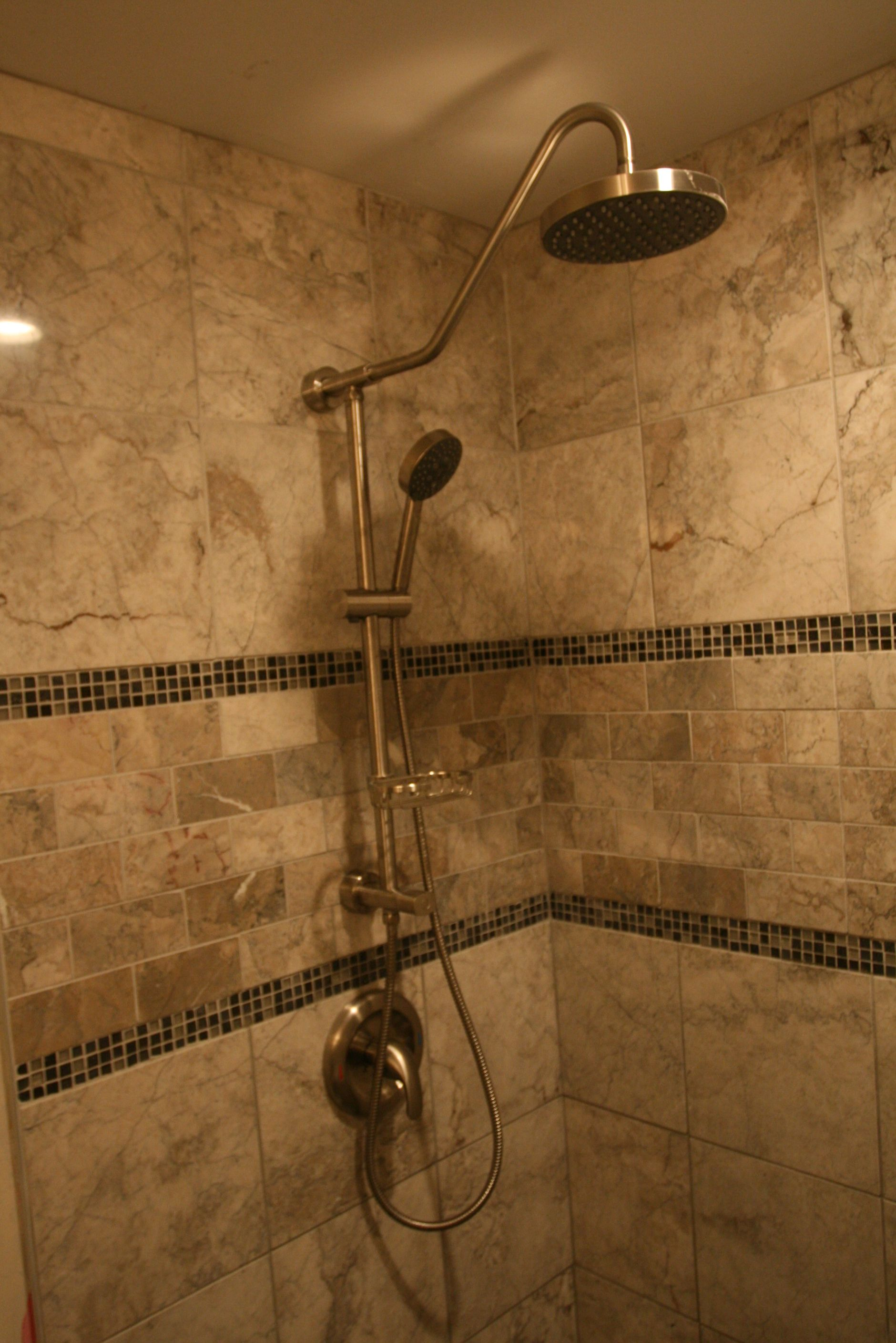 Nice Shower Fixture And Tile Coloring. PULSE ShowerSpas Kauai Shower System  Rubbed Oil Bronze.